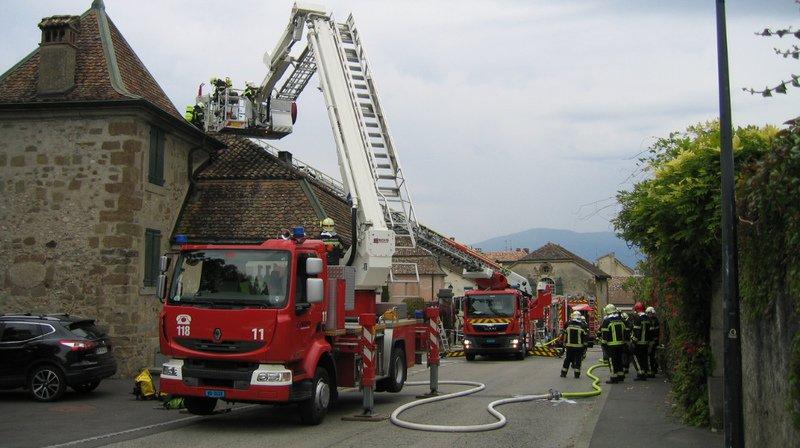 Incendie dans les anciennes écuries du Château de Coppet