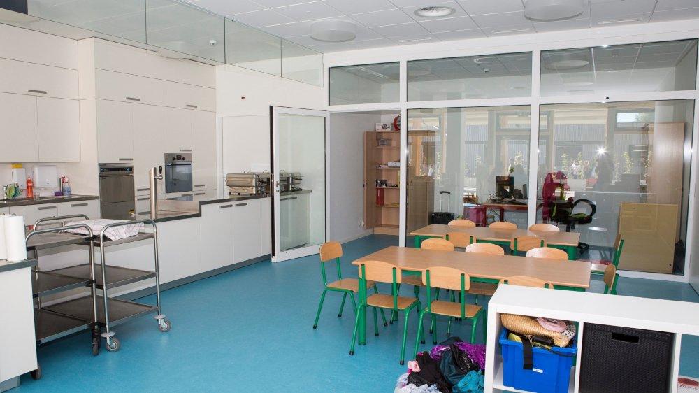 Ici la cantine scolaire G'y Crock, à Gilly, qui a ouvert en août. Toutes les cantines de l'association pratiquent le même tarif.