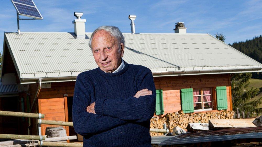 André Jacob est revenu dans le chalet de l'Ecureuil, où en 1943, il avait été secouru. Il a qualifié sa rencontre avec les descendants de ceux qui l'ont sauvé «d'extraordinaire».