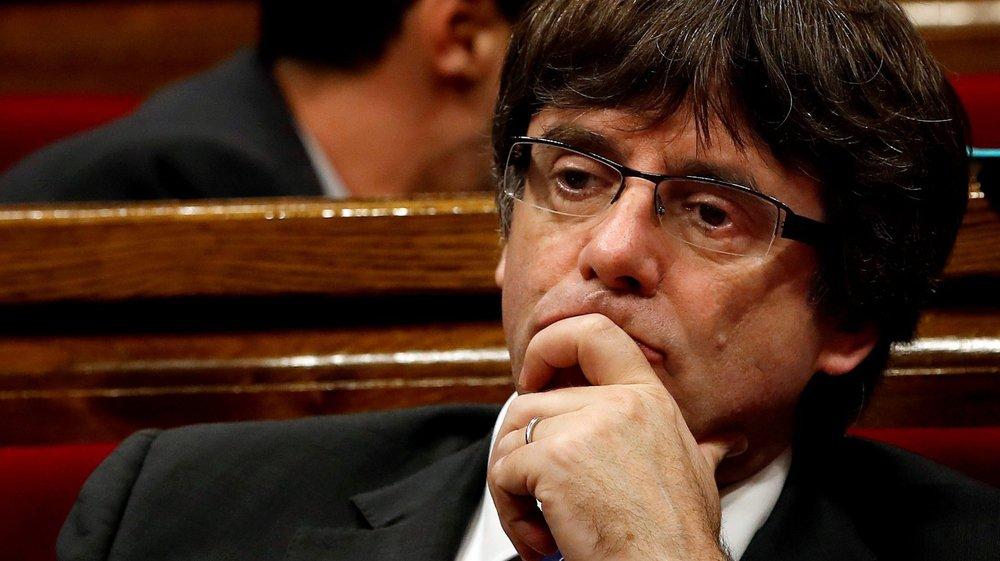 Carles Puigdemont, président catalan destitué samedi dernier par le gouvernement espagnol, s'est rendu à Bruxelles, hier.