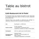 Table au bistrot - Gimel