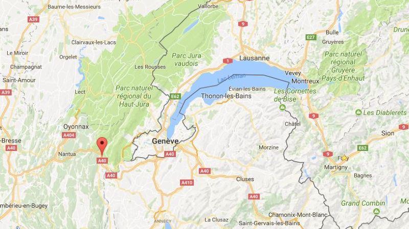 Le drame s'est produit vers 13h30 à Châtillon-en-Michaille, un village de l'Ain situé tout près de Genève.
