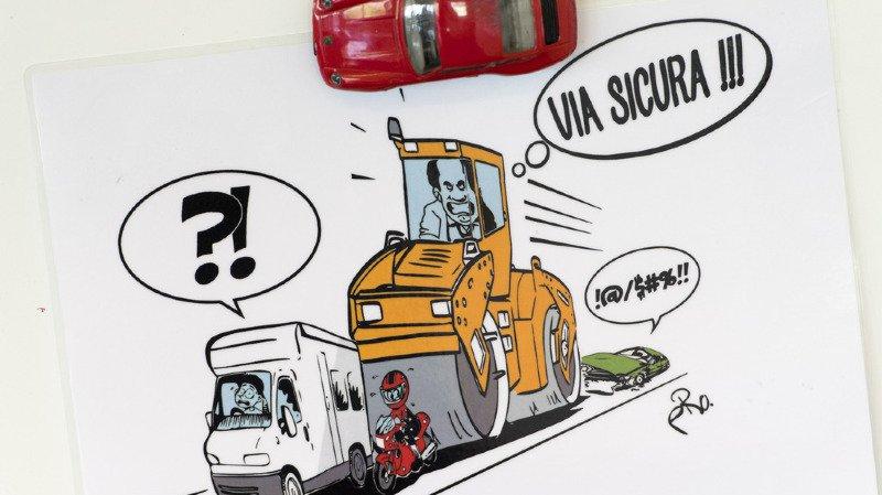 """Circulation: l'initiative """"Stop aux excès de Via sicura"""" ne récolte que 30'000 signatures"""