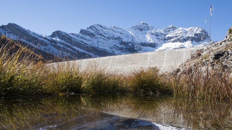 La commission a renoncé à soutenir l'énergie hydraulique indigène, comme ici, le barrage de Salanfe (VS).