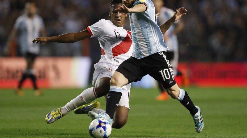 Lionel Messi n'a que trouvé le poteau lors de cette rencontre contre le Pérou.