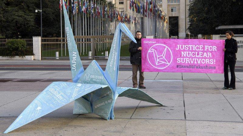 """Genève: opération de soutien aux victimes de Fukushima, """"abandonnées"""" par leur gouvernement"""