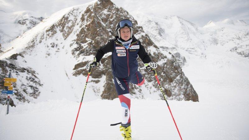 La Suissesse s'est blessée mercredi à Diavolezza.