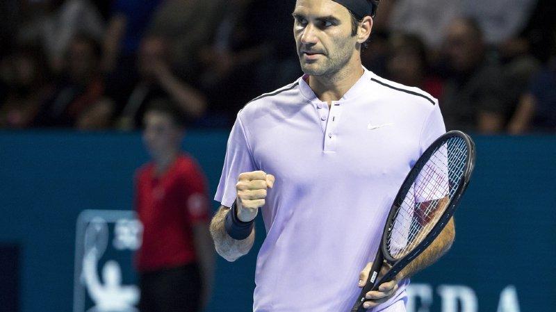 Swiss Indoors: Roger Federer se qualifie pour les demi-finales