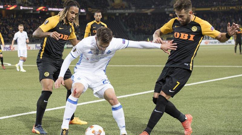 Football: en Europa League, Young Boys s'incline 1-0 au Stade de Suisse face au Dynamo Kiev