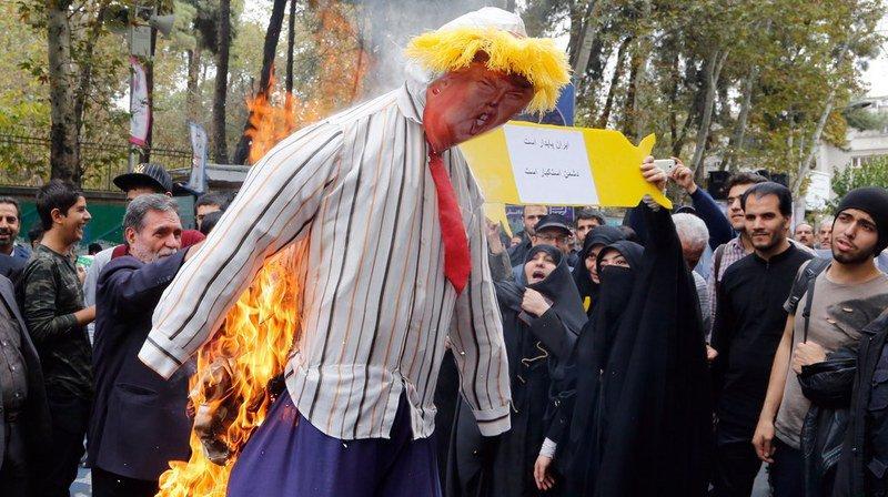 Téhéran: des milliers d'Iraniens manifestent contre Trump et les Etats-Unis