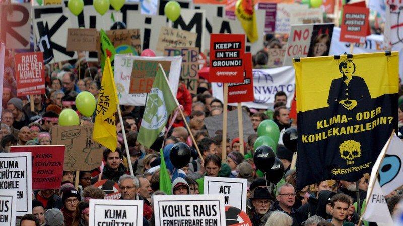 Réchauffement climatique: manif à Bonn, avant la COP23