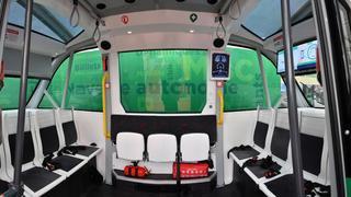 Cossonay: les deux navettes autonomes, qui devraient bientôt circuler dans le bourg, vedettes du comptoir