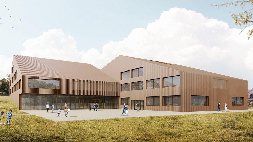 Le crédit pour la construction de la nouvelle école du Muids a été accepté.