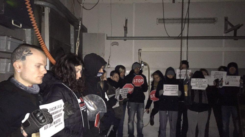 Les militants ont briévement occupé l'abattoir.