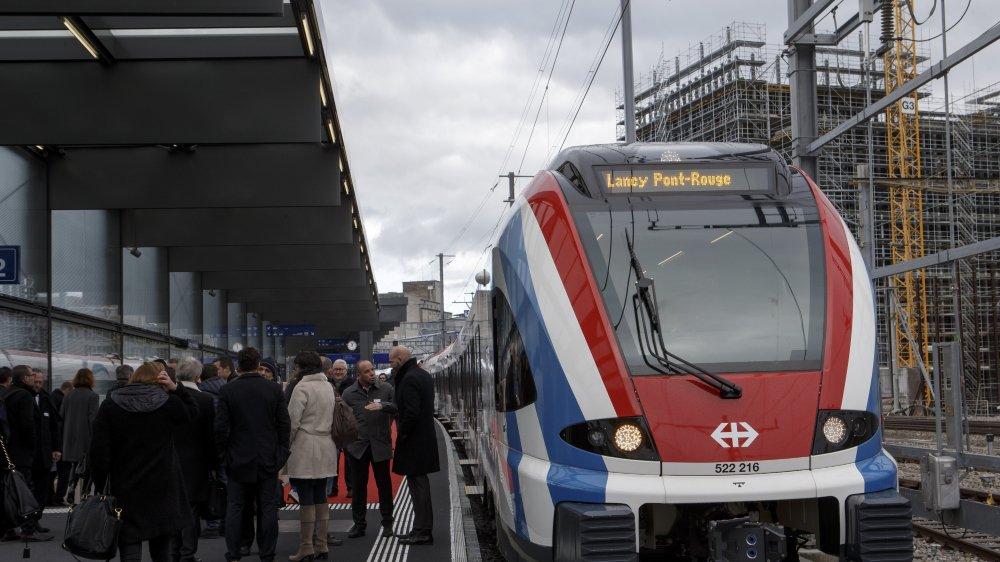 L'inauguration de la gare de Lancy-Pont-Rouge.