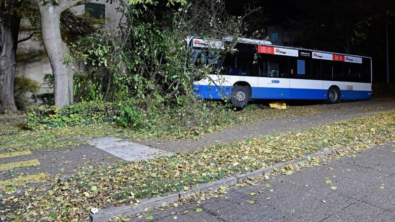 Zurich: un bus des transports publics termine sa course contre un arbre, quatre blessés