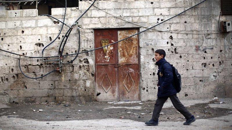 Les raids les plus meurtriers ont frappé la ville de Hamouria, tuant 13 civils dont cinq enfants (illustration).