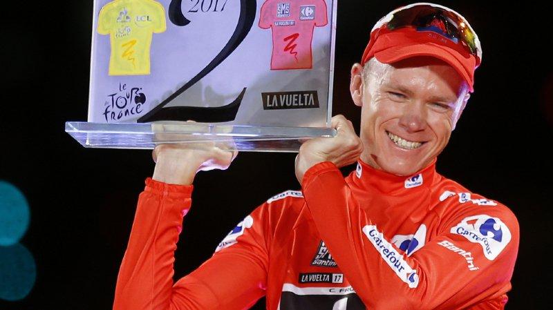 """Tour d'Espagne: contrôle antidopage """"anormal"""" pour le vainqueur britannique Christopher Froome"""