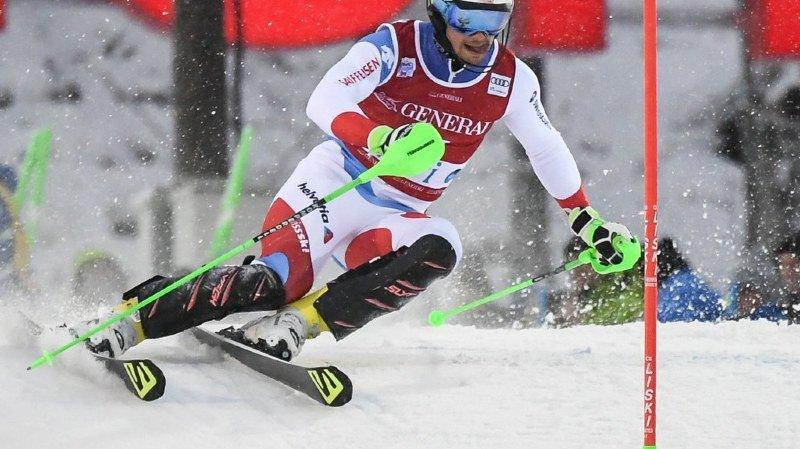 Ski alpin à Val d'Isère: Luca Aerni 12e, Loïc Meillard 22e après la 1re manche du slalom