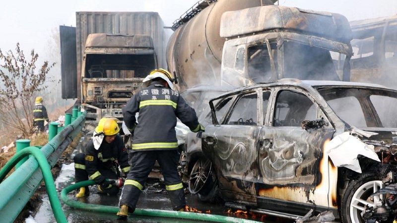 Chine: un carambolage monstre fait 18 morts sur une autoroute