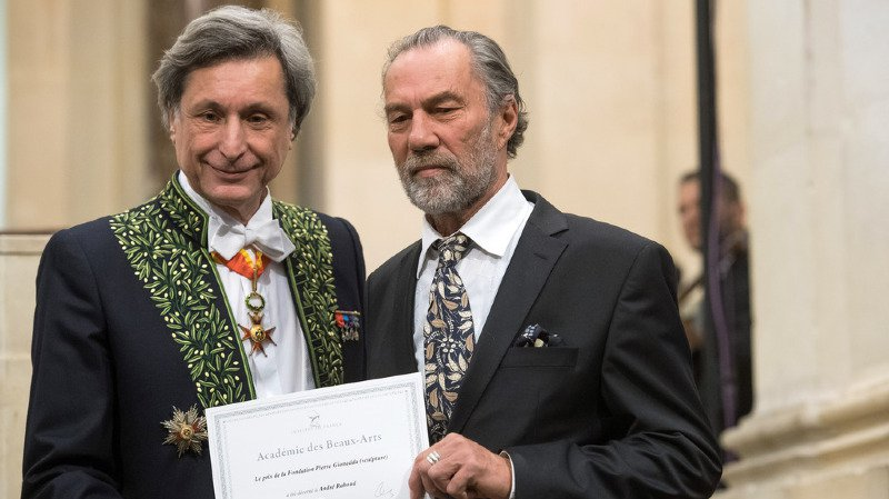 André Raboud s'est rendu à Paris pour recevoir son prix.