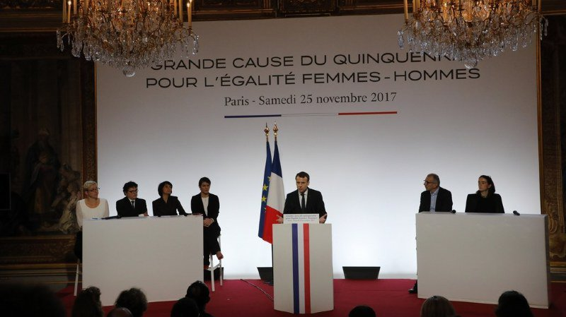France: l'égalité femmes-hommes est la nouvelle grande cause du président Emmanuel Macron
