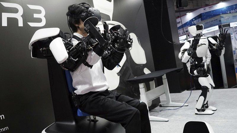 T-HR3 a été présenté lors d'un salon international de la robotique. (illustration)