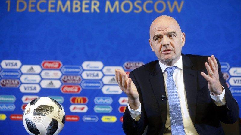"""Mondial 2018: """"Nous allons organiser la plus belle Coupe du monde de l'histoire!"""", la promesse de Gianni Infantino"""
