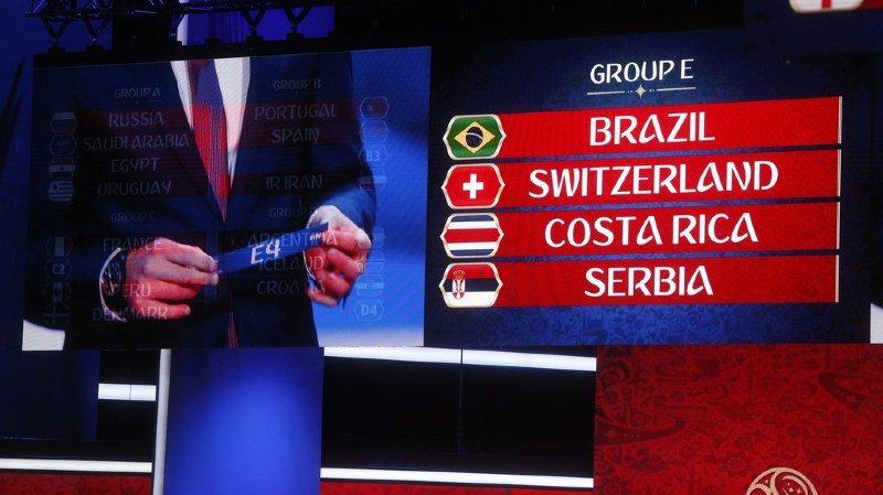 Mondial 2018: la Suisse dans le groupe E, avec le Brésil, le Costa Rica et la Serbie, derby Espagne-Portugal dans le groupe B