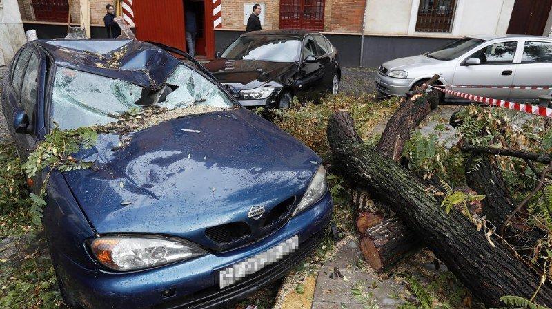 La tempête Ana a fait beaucoup de dégâts dans l'ouest de l'Europe, ici en Espagne.