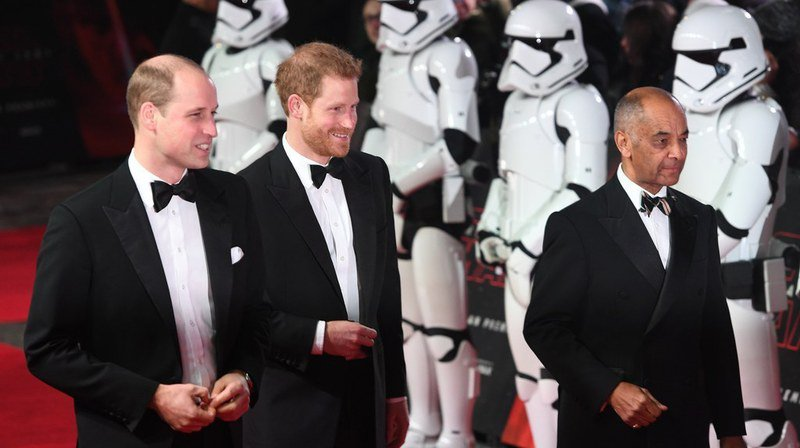 La projection était organisée au profit de la Royal Foundation, parrainée par les princes Harry et William.