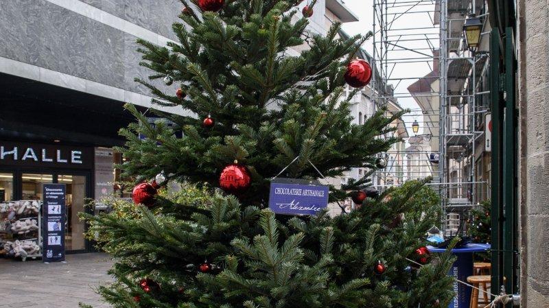 Les commerçants de la rue du Collège sont fiers de leur arbre.