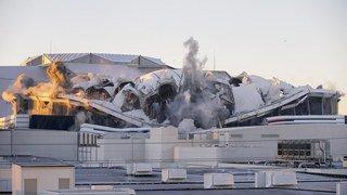 Destruction d'un dôme à Atlanta: le direct d'une télévision ruiné par un bus