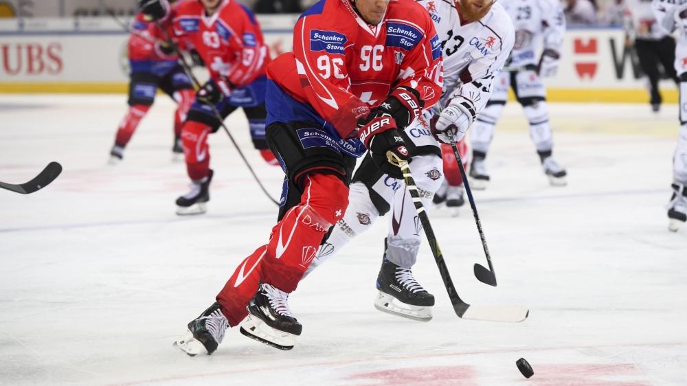 Damien Brunner et les Suisses n'ont laissé aucune chance aux Lettons, mardi après-midi à Davos.