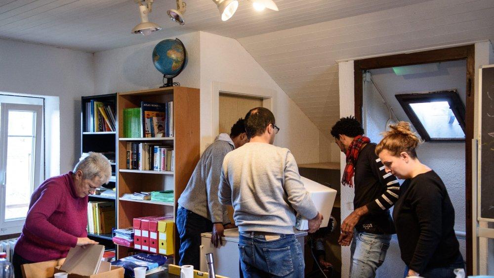 Mardi, l'association Le lieu-dit emménageait dans l'ancien centre de jour de l'Evam.