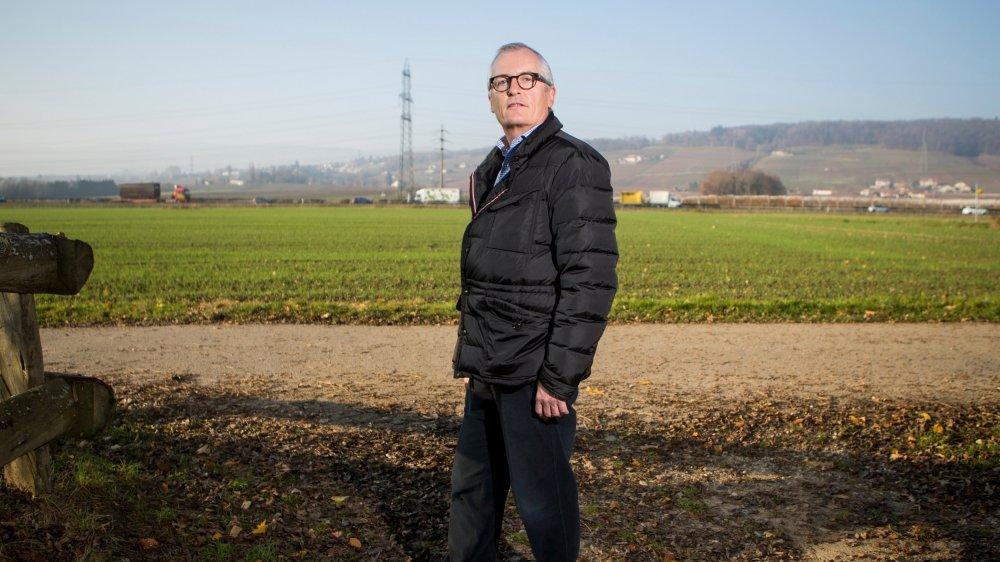 Le syndic de Luins, Claude Guignard, a convaincu le conseil général à s'engager contre le projet de step sur le site du Lavasson.
