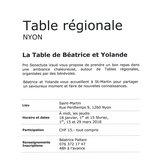 Table régionale