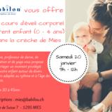 Cours gratuit éveil corporel parent-enfant offert