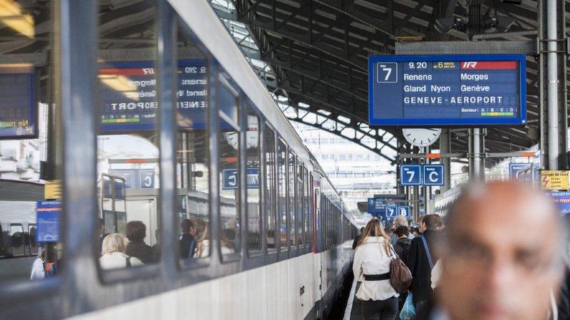 Si vous voyagez entre Genève-aéroport et Lausanne ce vendredi matin, prenez votre mal en patience! (illustration)