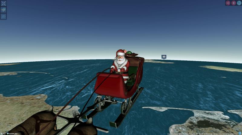 Le Père Noël est en train de livrer ses cadeaux: suivez son parcours en direct!