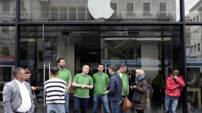 L'incendie s'est déclaré dans l'Apple Store de Zurich (archives).