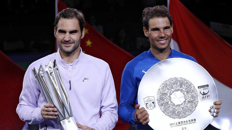 Federer et Nadal, ici aux Masters de Shangai, ne nagent pas dans les mêmes eaux en cette fin d'année.
