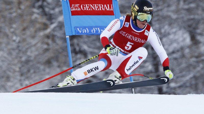 Ski alpin: Lara Gut finit au pied du podium du 2e super-G de Val d'Isère