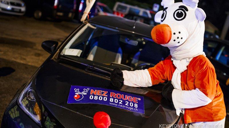 """""""Nez Rouge"""" et sa mascotte peuvent compter sur l'engagement de 6200 bénévoles."""
