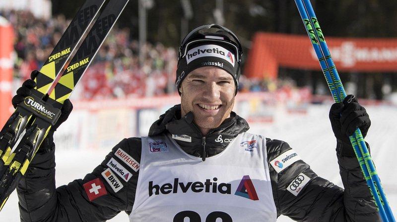 Ski de fond: Cologna remporte la 3e étape du Tour de Ski et prend les commandes