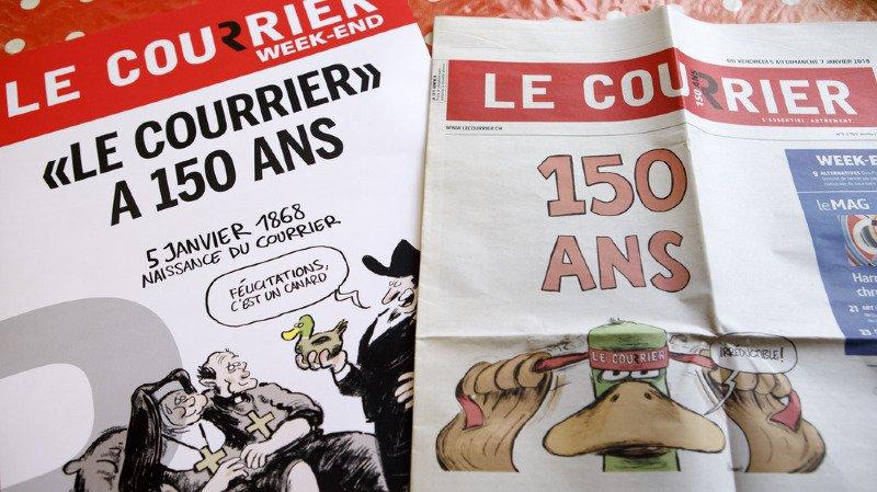 """Médias: le journal """"Le Courrier"""" fête ses 150 ans avec une expo itinérante en Romandie"""