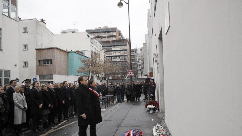 France: hommage aux victimes des attentats contre Charlie Hebdo trois ans après