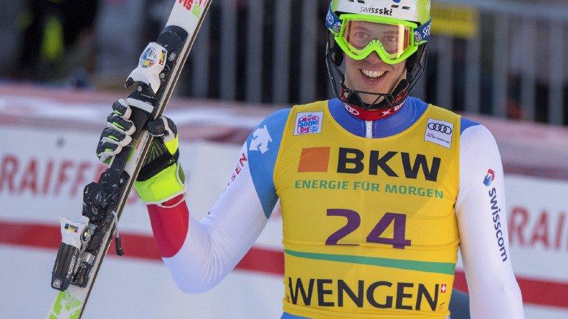 Ski alpin: Ramon Zenhäusern rate de peu le podium lors du slalom de Wengen