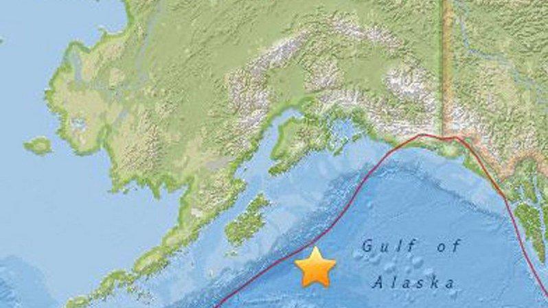 La séisme a été localisé à 256 km au sud-est de la côte de l'Alaska.