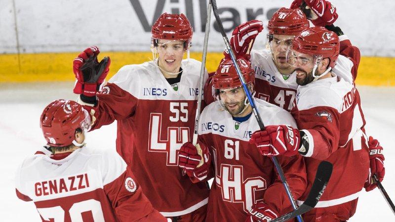 Hockey: le Lausanne HC entretient l'espoir en battant Berne 5-3